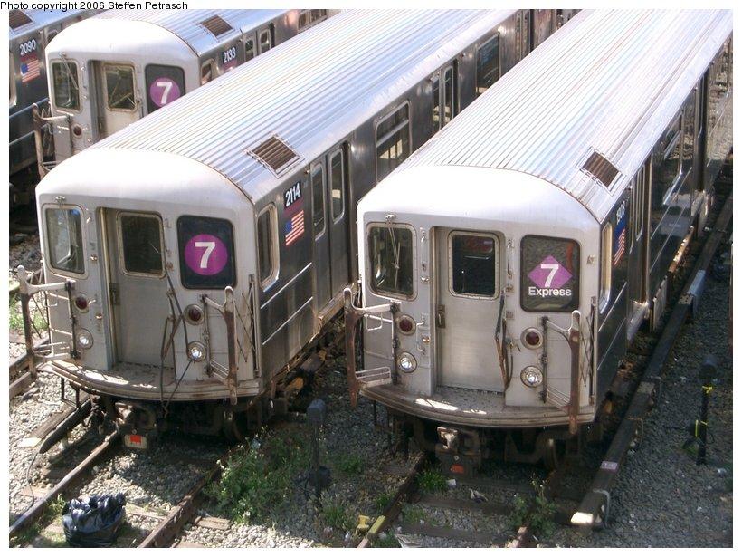 (166k, 820x615)<br><b>Country:</b> United States<br><b>City:</b> New York<br><b>System:</b> New York City Transit<br><b>Location:</b> Corona Yard<br><b>Car:</b> R-62A (Bombardier, 1984-1987) 2114 <br><b>Photo by:</b> Steffen Petrasch<br><b>Date:</b> 9/25/2006<br><b>Viewed (this week/total):</b> 1 / 2231