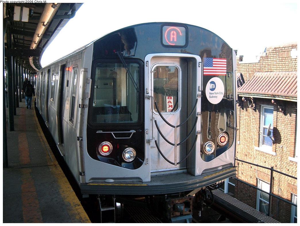 (244k, 1044x788)<br><b>Country:</b> United States<br><b>City:</b> New York<br><b>System:</b> New York City Transit<br><b>Line:</b> IND Fulton Street Line<br><b>Location:</b> Lefferts Boulevard<br><b>Route:</b> A<br><b>Car:</b> R-160A-2 (Alstom, 2005-2008, 5 car sets) 8662 <br><b>Photo by:</b> Chris M.<br><b>Date:</b> 10/21/2006<br><b>Viewed (this week/total):</b> 7 / 4933