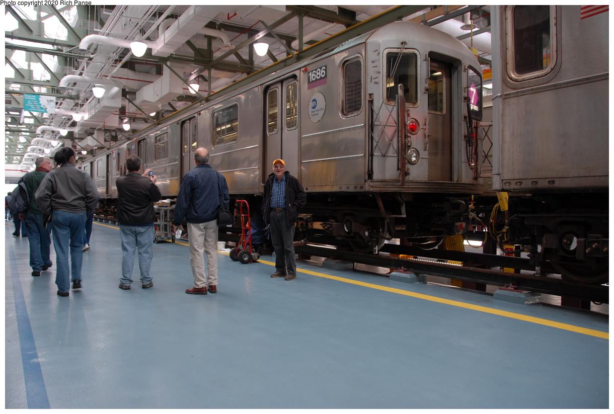 (364k, 1220x823)<br><b>Country:</b> United States<br><b>City:</b> New York<br><b>System:</b> New York City Transit<br><b>Location:</b> Corona Shops<br><b>Car:</b> R-62A (Bombardier, 1984-1987) 1686 <br><b>Photo by:</b> Richard Panse<br><b>Date:</b> 10/22/2006<br><b>Viewed (this week/total):</b> 0 / 3111