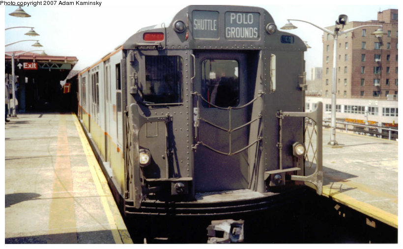 (98k, 820x507)<br><b>Country:</b> United States<br><b>City:</b> New York<br><b>System:</b> New York City Transit<br><b>Line:</b> IRT Pelham Line<br><b>Location:</b> East 177th Street/Parkchester<br><b>Route:</b> Fan Trip<br><b>Car:</b> R-12 (American Car & Foundry, 1948) 5760 <br><b>Photo by:</b> Adam Kaminsky<br><b>Date:</b> 4/17/2004<br><b>Viewed (this week/total):</b> 0 / 2779