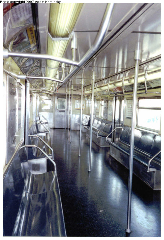 (118k, 559x820)<br><b>Country:</b> United States<br><b>City:</b> New York<br><b>System:</b> New York City Transit<br><b>Route:</b> A<br><b>Car:</b> R-32 (Budd, 1964) Interior <br><b>Photo by:</b> Adam Kaminsky<br><b>Date:</b> 8/24/2003<br><b>Viewed (this week/total):</b> 2 / 2750