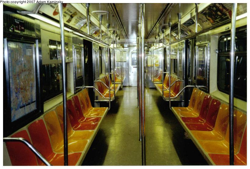 (132k, 820x555)<br><b>Country:</b> United States<br><b>City:</b> New York<br><b>System:</b> New York City Transit<br><b>Route:</b> S<br><b>Car:</b> R-62A (Bombardier, 1984-1987) Interior <br><b>Photo by:</b> Adam Kaminsky<br><b>Date:</b> 8/18/2003<br><b>Viewed (this week/total):</b> 0 / 2174