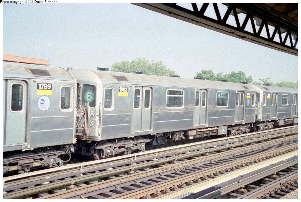 (222k, 1044x699)<br><b>Country:</b> United States<br><b>City:</b> New York<br><b>System:</b> New York City Transit<br><b>Line:</b> IRT Pelham Line<br><b>Location:</b> Westchester Square<br><b>Route:</b> 6<br><b>Car:</b> R-62A (Bombardier, 1984-1987) 1903 <br><b>Photo by:</b> David Pirmann<br><b>Date:</b> 9/13/1998<br><b>Viewed (this week/total):</b> 2 / 5206
