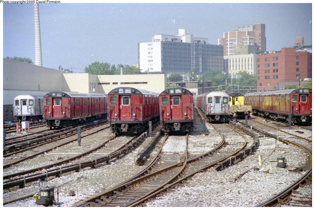 (249k, 1044x696)<br><b>Country:</b> United States<br><b>City:</b> New York<br><b>System:</b> New York City Transit<br><b>Location:</b> Westchester Yard<br><b>Photo by:</b> David Pirmann<br><b>Date:</b> 9/13/1998<br><b>Notes:</b> Overview of yard<br><b>Viewed (this week/total):</b> 2 / 4315