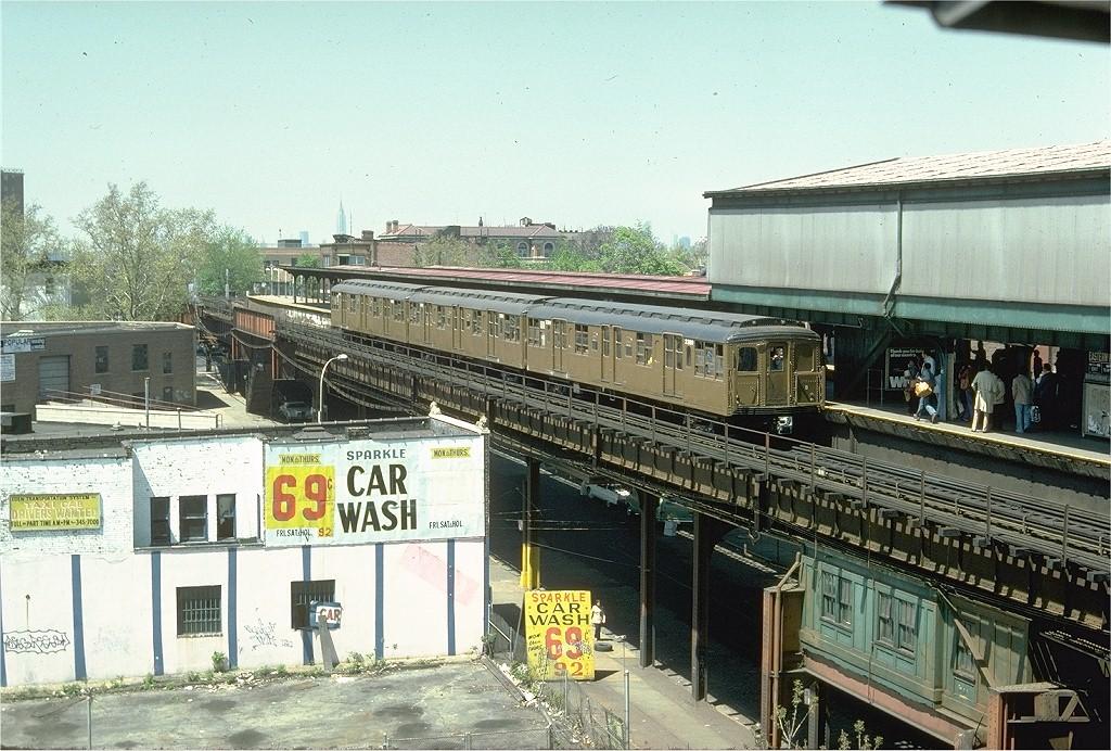 (252k, 1024x692)<br><b>Country:</b> United States<br><b>City:</b> New York<br><b>System:</b> New York City Transit<br><b>Line:</b> BMT Nassau Street-Jamaica Line<br><b>Location:</b> Broadway/East New York (Broadway Junction)<br><b>Route:</b> Fan Trip<br><b>Car:</b> BMT A/B-Type Standard 2390 <br><b>Photo by:</b> Doug Grotjahn<br><b>Collection of:</b> Joe Testagrose<br><b>Date:</b> 4/30/1977<br><b>Viewed (this week/total):</b> 0 / 5444