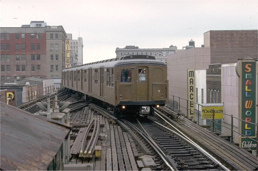 (221k, 1024x681)<br><b>Country:</b> United States<br><b>City:</b> New York<br><b>System:</b> New York City Transit<br><b>Line:</b> BMT Nassau Street-Jamaica Line<br><b>Location:</b> 168th Street (Demolished)<br><b>Route:</b> Fan Trip<br><b>Car:</b> BMT A/B-Type Standard 2390 <br><b>Collection of:</b> Joe Testagrose<br><b>Date:</b> 9/10/1977<br><b>Viewed (this week/total):</b> 0 / 8609