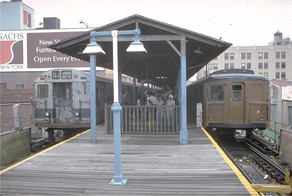 (212k, 1024x687)<br><b>Country:</b> United States<br><b>City:</b> New York<br><b>System:</b> New York City Transit<br><b>Line:</b> BMT Nassau Street-Jamaica Line<br><b>Location:</b> 168th Street (Demolished)<br><b>Route:</b> Fan Trip<br><b>Car:</b> BMT A/B-Type Standard 2390 <br><b>Collection of:</b> Joe Testagrose<br><b>Date:</b> 9/10/1977<br><b>Viewed (this week/total):</b> 1 / 8114