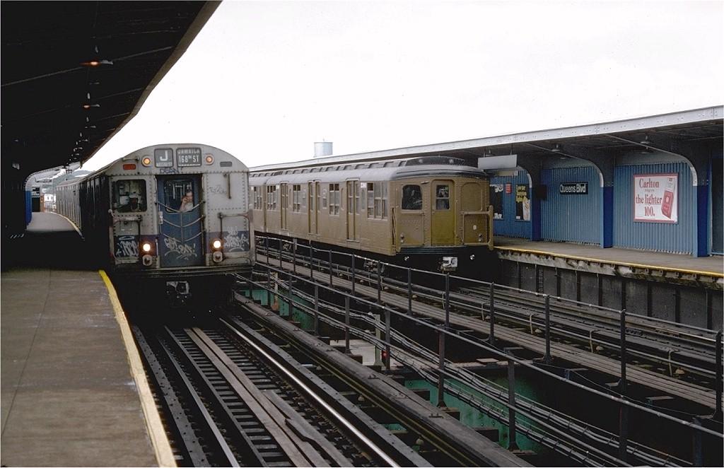 (181k, 1024x662)<br><b>Country:</b> United States<br><b>City:</b> New York<br><b>System:</b> New York City Transit<br><b>Line:</b> BMT Nassau Street-Jamaica Line<br><b>Location:</b> Queens Boulevard (Demolished)<br><b>Route:</b> Fan Trip<br><b>Car:</b> BMT A/B-Type Standard 2390 <br><b>Photo by:</b> Doug Grotjahn<br><b>Collection of:</b> Joe Testagrose<br><b>Date:</b> 9/10/1977<br><b>Viewed (this week/total):</b> 0 / 6710