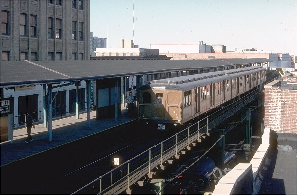 (184k, 1024x674)<br><b>Country:</b> United States<br><b>City:</b> New York<br><b>System:</b> New York City Transit<br><b>Line:</b> BMT Nassau Street-Jamaica Line<br><b>Location:</b> 168th Street (Demolished)<br><b>Route:</b> Fan Trip<br><b>Car:</b> BMT A/B-Type Standard 2390 <br><b>Photo by:</b> Joe Testagrose<br><b>Date:</b> 9/11/1977<br><b>Viewed (this week/total):</b> 1 / 9470
