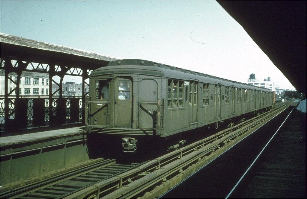 (185k, 1024x665)<br><b>Country:</b> United States<br><b>City:</b> New York<br><b>System:</b> New York City Transit<br><b>Line:</b> BMT Canarsie Line<br><b>Location:</b> Sutter Avenue<br><b>Route:</b> Fan Trip<br><b>Car:</b> BMT A/B-Type Standard 2392 <br><b>Collection of:</b> Joe Testagrose<br><b>Date:</b> 8/23/1969<br><b>Viewed (this week/total):</b> 2 / 3670