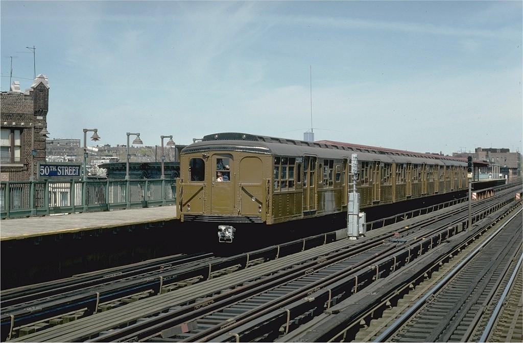 (199k, 1024x673)<br><b>Country:</b> United States<br><b>City:</b> New York<br><b>System:</b> New York City Transit<br><b>Line:</b> BMT West End Line<br><b>Location:</b> 50th Street<br><b>Route:</b> Fan Trip<br><b>Car:</b> BMT A/B-Type Standard 2392 <br><b>Photo by:</b> Joe Testagrose<br><b>Date:</b> 4/16/1977<br><b>Viewed (this week/total):</b> 1 / 3672