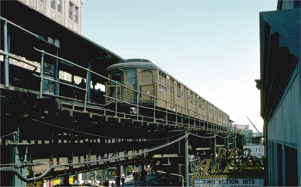 (182k, 1024x637)<br><b>Country:</b> United States<br><b>City:</b> New York<br><b>System:</b> New York City Transit<br><b>Line:</b> BMT Nassau Street-Jamaica Line<br><b>Location:</b> 168th Street (Demolished)<br><b>Route:</b> Fan Trip<br><b>Car:</b> BMT A/B-Type Standard 2392 <br><b>Collection of:</b> Joe Testagrose<br><b>Date:</b> 4/30/1977<br><b>Viewed (this week/total):</b> 4 / 9107