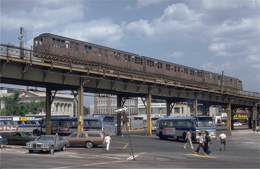 (210k, 1024x666)<br><b>Country:</b> United States<br><b>City:</b> New York<br><b>System:</b> New York City Transit<br><b>Line:</b> BMT Nassau Street-Jamaica Line<br><b>Location:</b> Marcy Avenue<br><b>Route:</b> Fan Trip<br><b>Car:</b> BMT A/B-Type Standard 2392 <br><b>Collection of:</b> Joe Testagrose<br><b>Date:</b> 6/21/1980<br><b>Viewed (this week/total):</b> 0 / 6801