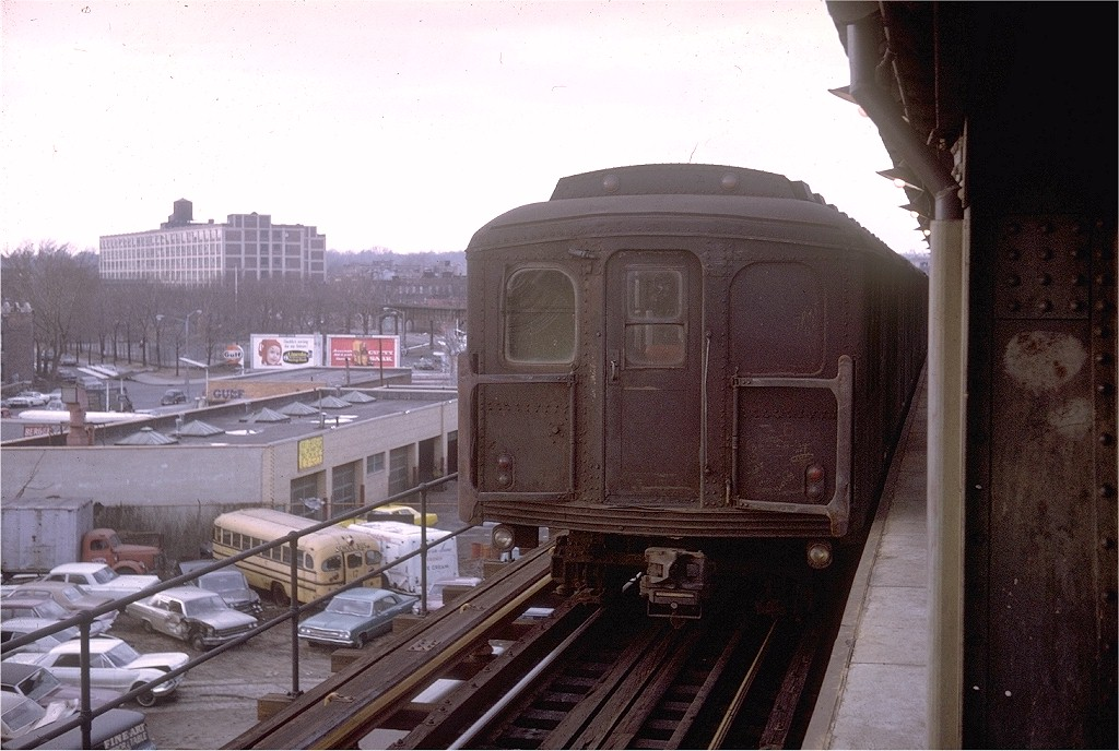 (194k, 1024x688)<br><b>Country:</b> United States<br><b>City:</b> New York<br><b>System:</b> New York City Transit<br><b>Line:</b> BMT Culver Line<br><b>Location:</b> Ditmas Avenue-Shuttle<br><b>Route:</b> SS<br><b>Car:</b> BMT A/B-Type Standard  <br><b>Photo by:</b> Doug Grotjahn<br><b>Collection of:</b> Joe Testagrose<br><b>Date:</b> 3/22/1969<br><b>Viewed (this week/total):</b> 0 / 3910