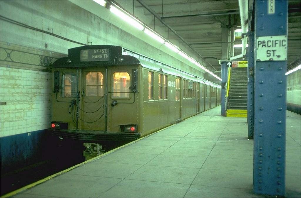 (174k, 1024x675)<br><b>Country:</b> United States<br><b>City:</b> New York<br><b>System:</b> New York City Transit<br><b>Line:</b> BMT 4th Avenue Line<br><b>Location:</b> Pacific Street (Atlantic Avenue–Barclays Center)<br><b>Route:</b> Fan Trip<br><b>Car:</b> BMT D-Type Triplex 6095 <br><b>Photo by:</b> Doug Grotjahn<br><b>Collection of:</b> Joe Testagrose<br><b>Date:</b> 11/11/1978<br><b>Viewed (this week/total):</b> 0 / 7328