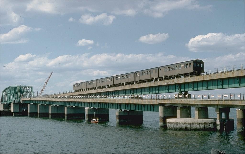 (171k, 1024x646)<br><b>Country:</b> United States<br><b>City:</b> New York<br><b>System:</b> New York City Transit<br><b>Line:</b> IND Rockaway Line<br><b>Location:</b> South Channel Bridge<br><b>Route:</b> Fan Trip<br><b>Car:</b> BMT D-Type Triplex 6095 <br><b>Photo by:</b> Steve Zabel<br><b>Collection of:</b> Joe Testagrose<br><b>Date:</b> 6/19/1977<br><b>Viewed (this week/total):</b> 0 / 4532
