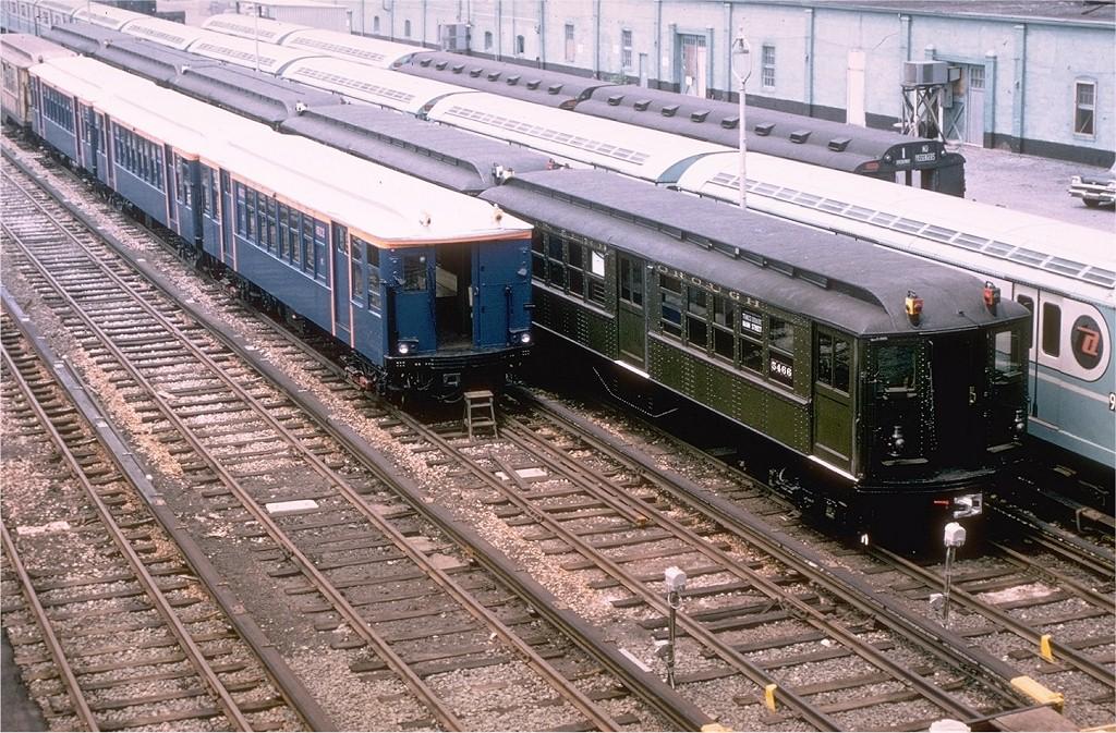 (281k, 1024x673)<br><b>Country:</b> United States<br><b>City:</b> New York<br><b>System:</b> New York City Transit<br><b>Location:</b> Corona Yard<br><b>Car:</b> BMT Q 1622 <br><b>Photo by:</b> Joe Testagrose<br><b>Date:</b> 7/22/1965<br><b>Notes:</b> With Low-V 5466<br><b>Viewed (this week/total):</b> 0 / 3693
