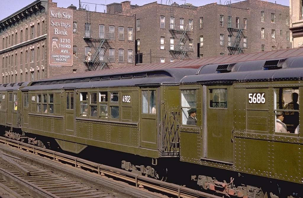 (260k, 1024x671)<br><b>Country:</b> United States<br><b>City:</b> New York<br><b>System:</b> New York City Transit<br><b>Line:</b> 3rd Avenue El<br><b>Location:</b> 161st Street<br><b>Route:</b> 8<br><b>Car:</b> Low-V 4902 <br><b>Photo by:</b> Doug Grotjahn<br><b>Collection of:</b> Joe Testagrose<br><b>Date:</b> 4/14/1968<br><b>Viewed (this week/total):</b> 0 / 8648