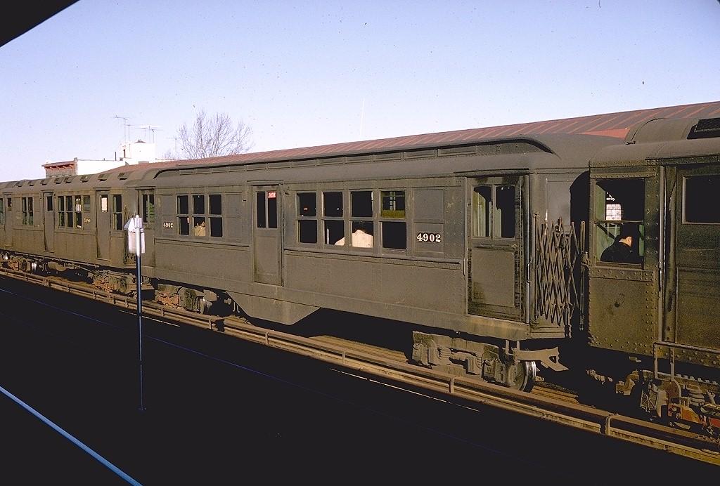 (186k, 1024x692)<br><b>Country:</b> United States<br><b>City:</b> New York<br><b>System:</b> New York City Transit<br><b>Line:</b> 3rd Avenue El<br><b>Location:</b> 210th Street<br><b>Route:</b> 8<br><b>Car:</b> Low-V 4902 <br><b>Photo by:</b> Doug Grotjahn<br><b>Collection of:</b> Joe Testagrose<br><b>Date:</b> 12/1964<br><b>Viewed (this week/total):</b> 0 / 6601