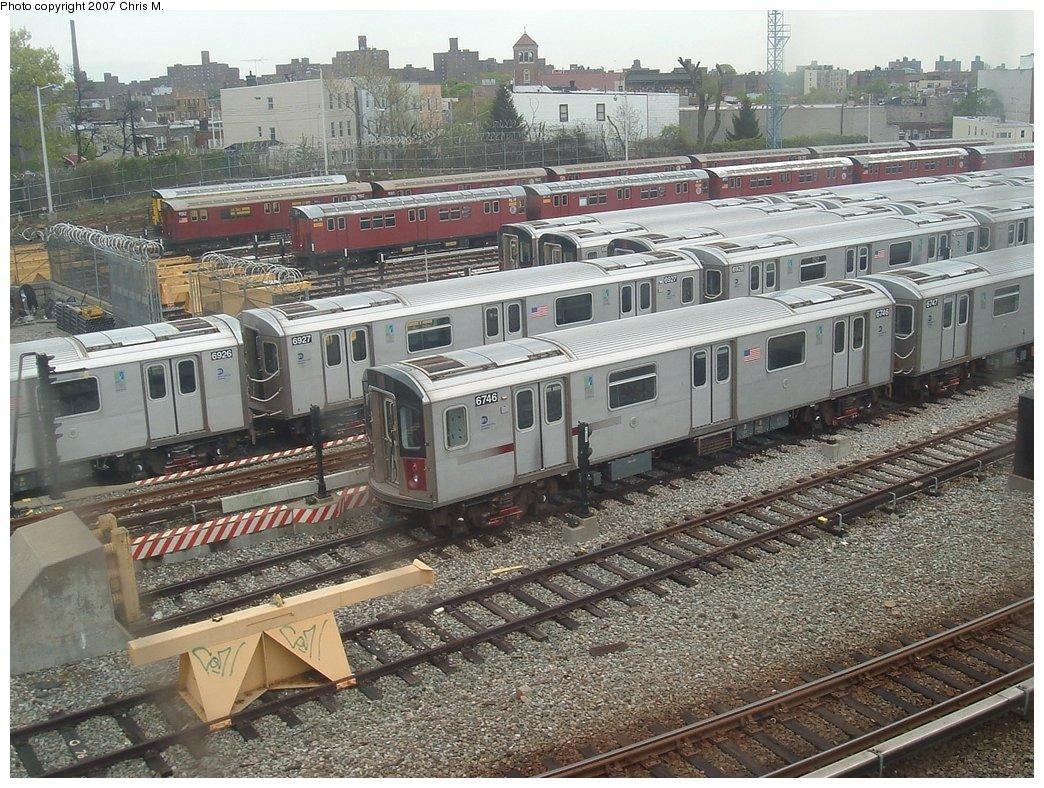 (243k, 1044x788)<br><b>Country:</b> United States<br><b>City:</b> New York<br><b>System:</b> New York City Transit<br><b>Location:</b> Unionport Yard<br><b>Car:</b> R-142 (Primary Order, Bombardier, 1999-2002) 6746 <br><b>Photo by:</b> Chris M.<br><b>Date:</b> 5/1/2005<br><b>Viewed (this week/total):</b> 0 / 3088