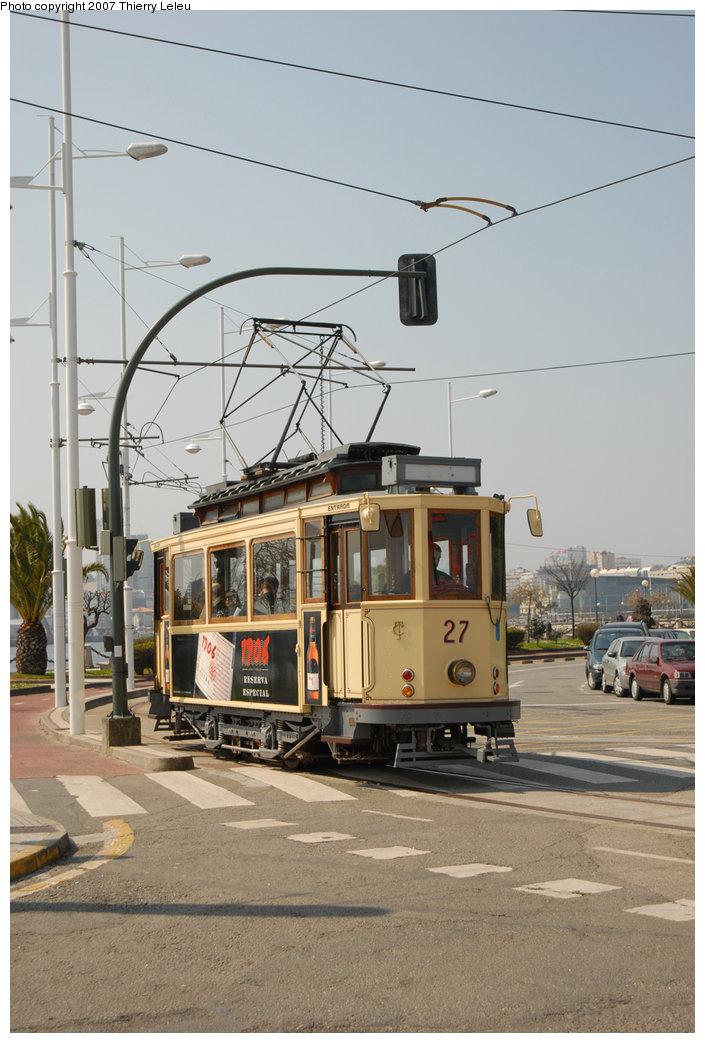 (191k, 705x1043)<br><b>Country:</b> Spain<br><b>City:</b> La Coruña<br><b>System:</b> Tranvia de La Coruña<br><b>Car:</b>  27 <br><b>Photo by:</b> Thierry Leleu<br><b>Date:</b> 4/8/2007<br><b>Viewed (this week/total):</b> 1 / 1476