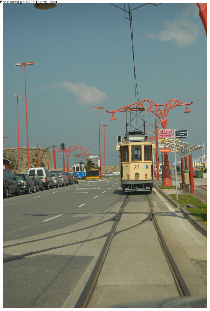 (161k, 705x1043)<br><b>Country:</b> Spain<br><b>City:</b> La Coruña<br><b>System:</b> Tranvia de La Coruña<br><b>Car:</b>  27 <br><b>Photo by:</b> Thierry Leleu<br><b>Date:</b> 4/8/2007<br><b>Viewed (this week/total):</b> 1 / 1462