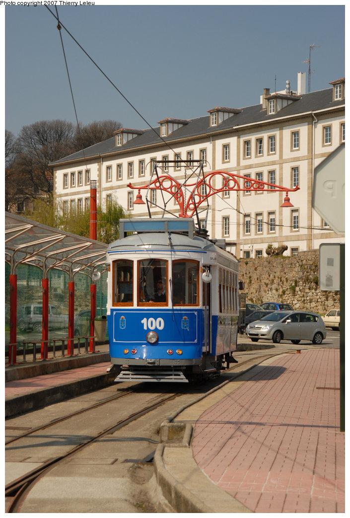 (226k, 705x1043)<br><b>Country:</b> Spain<br><b>City:</b> La Coruña<br><b>System:</b> Tranvia de La Coruña<br><b>Car:</b>  100 <br><b>Photo by:</b> Thierry Leleu<br><b>Date:</b> 4/8/2007<br><b>Viewed (this week/total):</b> 0 / 1584
