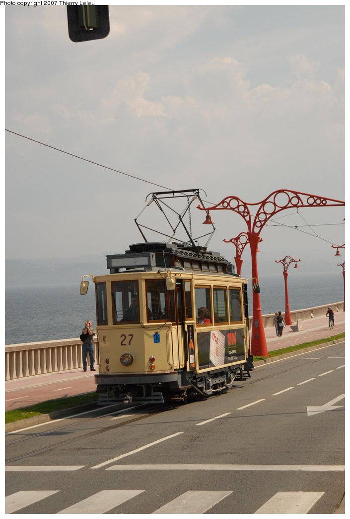 (157k, 705x1043)<br><b>Country:</b> Spain<br><b>City:</b> La Coruña<br><b>System:</b> Tranvia de La Coruña<br><b>Car:</b>  27 <br><b>Photo by:</b> Thierry Leleu<br><b>Date:</b> 4/8/2007<br><b>Viewed (this week/total):</b> 3 / 1437