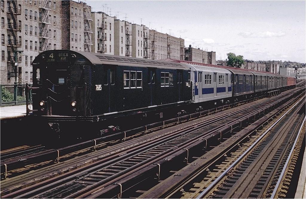 (283k, 1024x668)<br><b>Country:</b> United States<br><b>City:</b> New York<br><b>System:</b> New York City Transit<br><b>Line:</b> IRT Woodlawn Line<br><b>Location:</b> 176th Street<br><b>Route:</b> 4<br><b>Car:</b> R-22 (St. Louis, 1957-58) 7685 <br><b>Photo by:</b> Joe Testagrose<br><b>Date:</b> 6/13/1970<br><b>Viewed (this week/total):</b> 0 / 3276