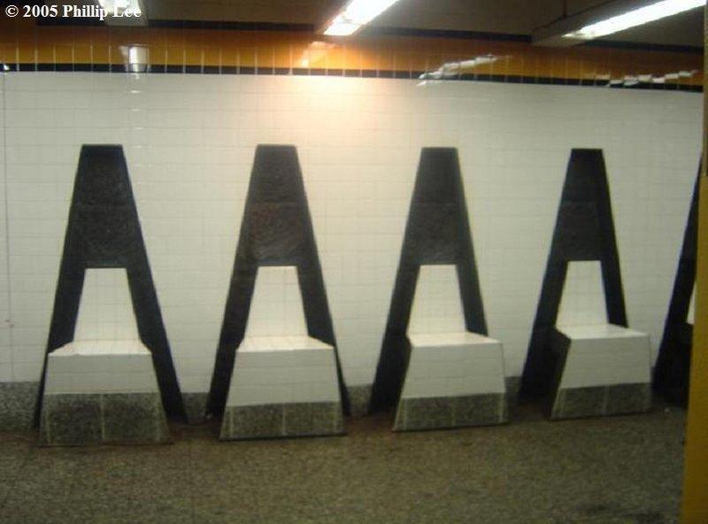 (61k, 800x592)<br><b>Country:</b> United States<br><b>City:</b> New York<br><b>System:</b> New York City Transit<br><b>Line:</b> IND Concourse Line<br><b>Location:</b> 161st Street-River Avenue (Yankee Stadium)<br><b>Photo by:</b> Phillip Lee<br><b>Date:</b> 6/14/2005<br><b>Artwork:</b> <i>Wall-Slide/Room of Tranquility</i>, Acconci/Brandt, 2002<br><b>Viewed (this week/total):</b> 0 / 3133