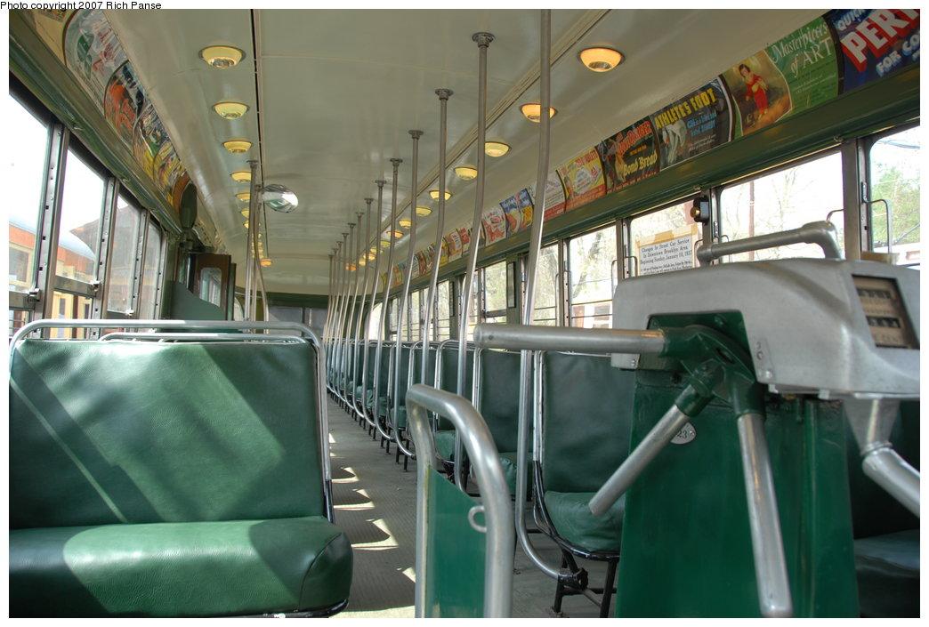 (181k, 1044x705)<br><b>Country:</b> United States<br><b>City:</b> East Haven/Branford, Ct.<br><b>System:</b> Shore Line Trolley Museum<br><b>Car:</b> Brooklyn & Queens Transit PCC (St. Louis Car, 1936) 1001 <br><b>Photo by:</b> Richard Panse<br><b>Date:</b> 4/28/2007<br><b>Viewed (this week/total):</b> 0 / 1649