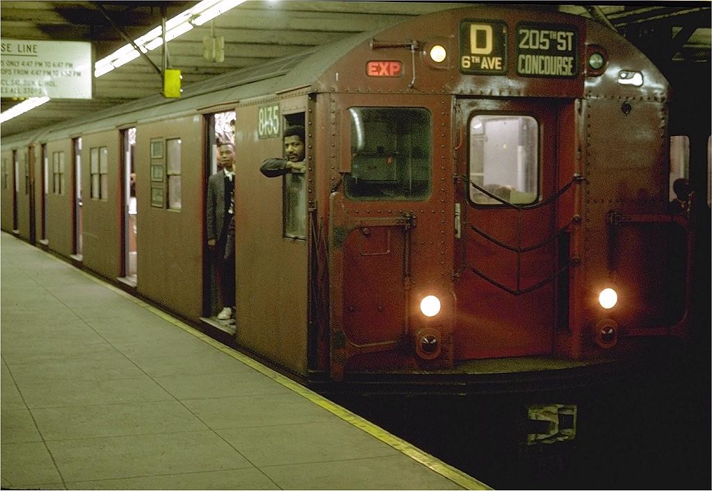 (239k, 1024x707)<br><b>Country:</b> United States<br><b>City:</b> New York<br><b>System:</b> New York City Transit<br><b>Line:</b> IND 8th Avenue Line<br><b>Location:</b> 125th Street<br><b>Route:</b> D<br><b>Car:</b> R-27 (St. Louis, 1960) 8135 <br><b>Photo by:</b> Joe Testagrose<br><b>Date:</b> 5/11/1969<br><b>Viewed (this week/total):</b> 0 / 5007