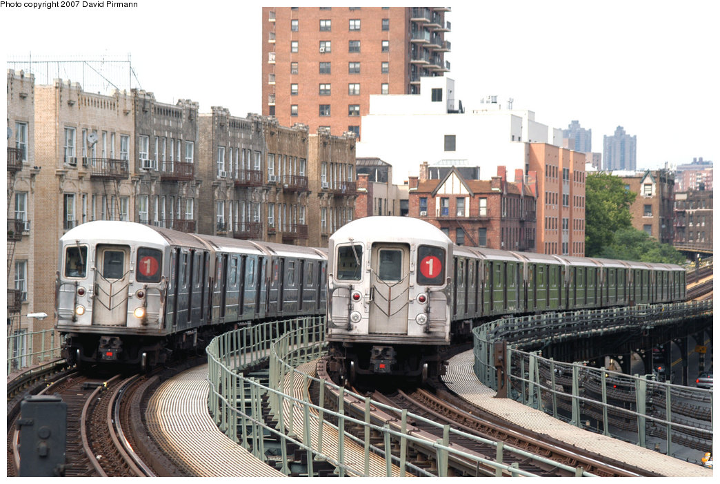 (260k, 1044x701)<br><b>Country:</b> United States<br><b>City:</b> New York<br><b>System:</b> New York City Transit<br><b>Line:</b> IRT West Side Line<br><b>Location:</b> Dyckman Street<br><b>Route:</b> 1<br><b>Car:</b> R-62A (Bombardier, 1984-1987) 2466/1876 <br><b>Photo by:</b> David Pirmann<br><b>Date:</b> 6/9/2007<br><b>Viewed (this week/total):</b> 2 / 2259
