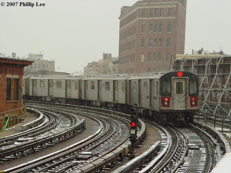 (116k, 800x600)<br><b>Country:</b> United States<br><b>City:</b> New York<br><b>System:</b> New York City Transit<br><b>Line:</b> IRT White Plains Road Line<br><b>Location:</b> Simpson Street<br><b>Route:</b> 2<br><b>Car:</b> R-142 or R-142A (Number Unknown)  <br><b>Photo by:</b> Phillip Lee<br><b>Date:</b> 2/14/2007<br><b>Viewed (this week/total):</b> 1 / 2667