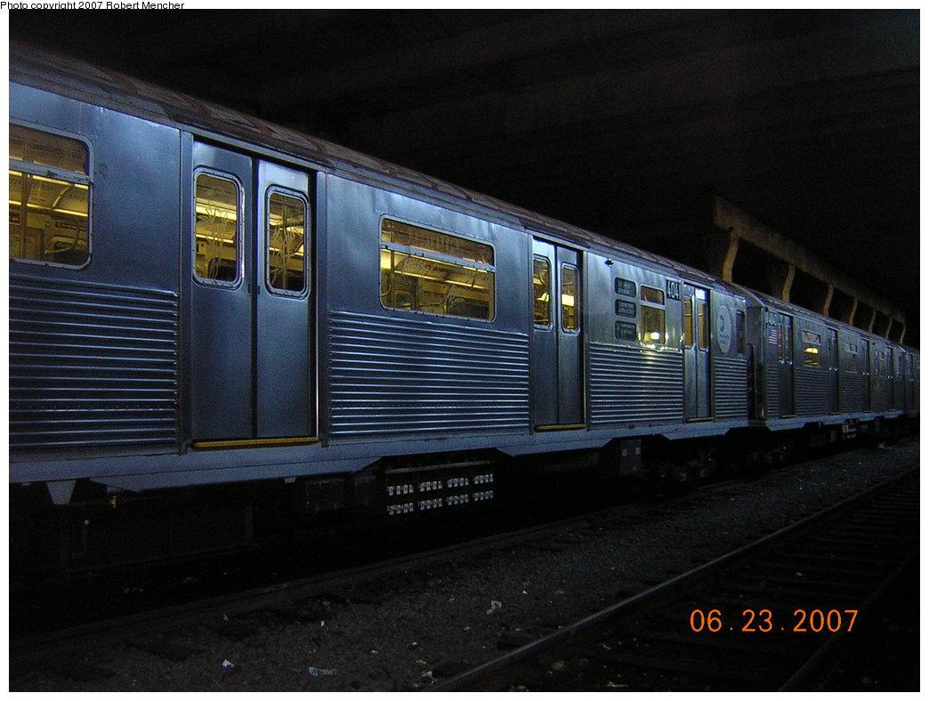 (192k, 1044x788)<br><b>Country:</b> United States<br><b>City:</b> New York<br><b>System:</b> New York City Transit<br><b>Location:</b> Pitkin Yard/Shops<br><b>Car:</b> R-38 (St. Louis, 1966-1967) 4041 <br><b>Photo by:</b> Robert Mencher<br><b>Date:</b> 6/23/2007<br><b>Viewed (this week/total):</b> 0 / 3164
