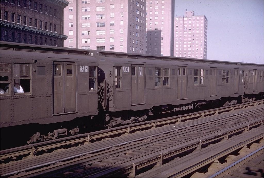 (248k, 1024x691)<br><b>Country:</b> United States<br><b>City:</b> New York<br><b>System:</b> New York City Transit<br><b>Line:</b> BMT Nassau Street-Jamaica Line<br><b>Location:</b> Marcy Avenue<br><b>Route:</b> KK<br><b>Car:</b> R-9 (Pressed Steel, 1940) A10 (ex-1737)<br><b>Photo by:</b> Doug Grotjahn<br><b>Collection of:</b> Joe Testagrose<br><b>Date:</b> 5/5/1969<br><b>Viewed (this week/total):</b> 2 / 4282