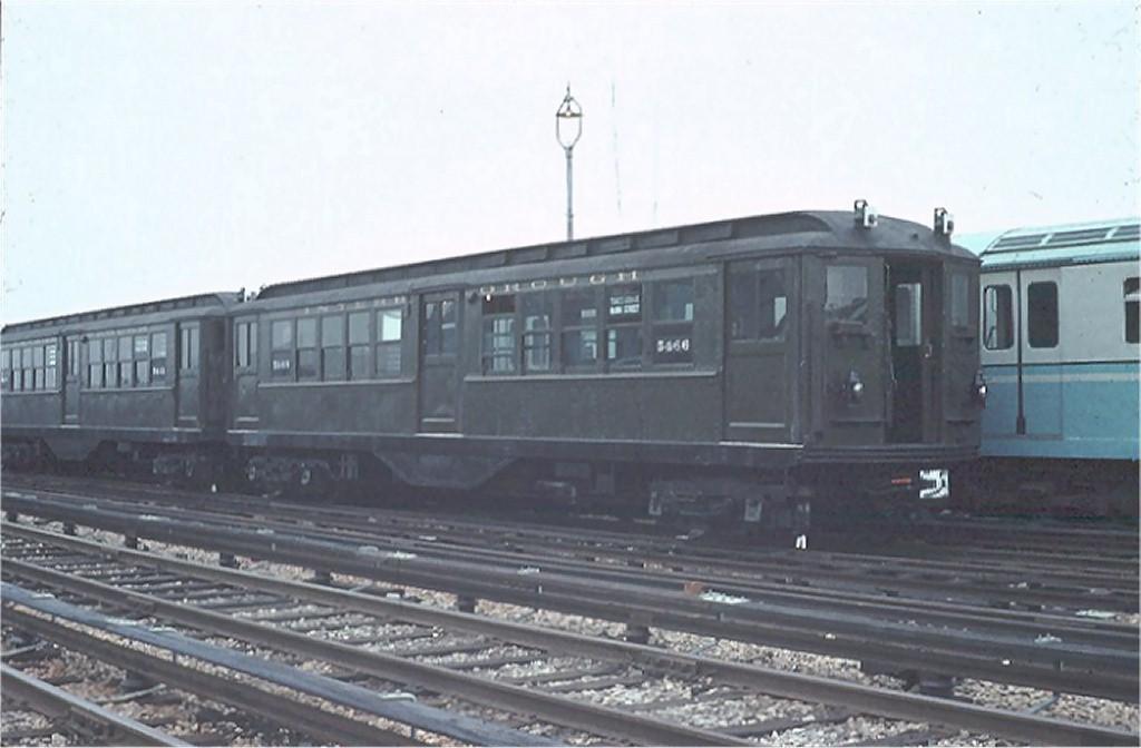(127k, 1024x672)<br><b>Country:</b> United States<br><b>City:</b> New York<br><b>System:</b> New York City Transit<br><b>Location:</b> Corona Yard<br><b>Car:</b> Low-V (Museum Train) 5466 <br><b>Photo by:</b> Joel Shanus<br><b>Collection of:</b> Joe Testagrose<br><b>Date:</b> 7/22/1965<br><b>Viewed (this week/total):</b> 0 / 3041