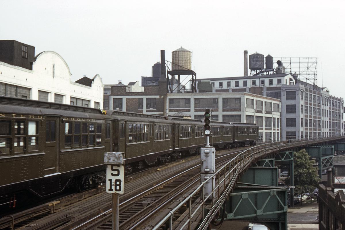 (421k, 1200x800)<br><b>Country:</b> United States<br><b>City:</b> New York<br><b>System:</b> New York City Transit<br><b>Line:</b> IRT Flushing Line<br><b>Location:</b> Court House Square/45th Road<br><b>Route:</b> Fan Trip<br><b>Car:</b> Low-V (Museum Train) 5483 <br><b>Collection of:</b> David Pirmann<br><b>Date:</b> 7/22/1965<br><b>Viewed (this week/total):</b> 0 / 3623