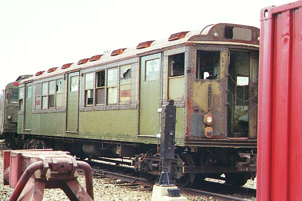 (118k, 600x400)<br><b>Country:</b> United States<br><b>City:</b> New York<br><b>System:</b> New York City Transit<br><b>Location:</b> Coney Island Yard-Museum Yard<br><b>Car:</b> Low-V (World's Fair) 5655 <br><b>Photo by:</b> Salaam Allah<br><b>Date:</b> 10/29/2000<br><b>Viewed (this week/total):</b> 3 / 11289