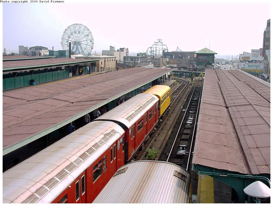 (149k, 1044x788)<br><b>Country:</b> United States<br><b>City:</b> New York<br><b>System:</b> New York City Transit<br><b>Location:</b> Coney Island/Stillwell Avenue<br><b>Route:</b> Fan Trip<br><b>Car:</b> Observation Car 0F116 <br><b>Photo by:</b> David Pirmann<br><b>Date:</b> 8/27/2000<br><b>Viewed (this week/total):</b> 0 / 6585