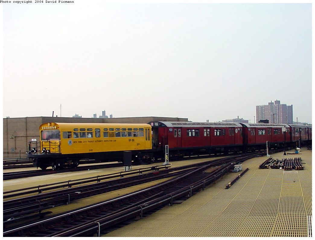 (110k, 1044x795)<br><b>Country:</b> United States<br><b>City:</b> New York<br><b>System:</b> New York City Transit<br><b>Location:</b> Coney Island/Stillwell Avenue<br><b>Route:</b> Fan Trip<br><b>Car:</b> Observation Car 0F116 <br><b>Photo by:</b> David Pirmann<br><b>Date:</b> 8/27/2000<br><b>Viewed (this week/total):</b> 0 / 5271