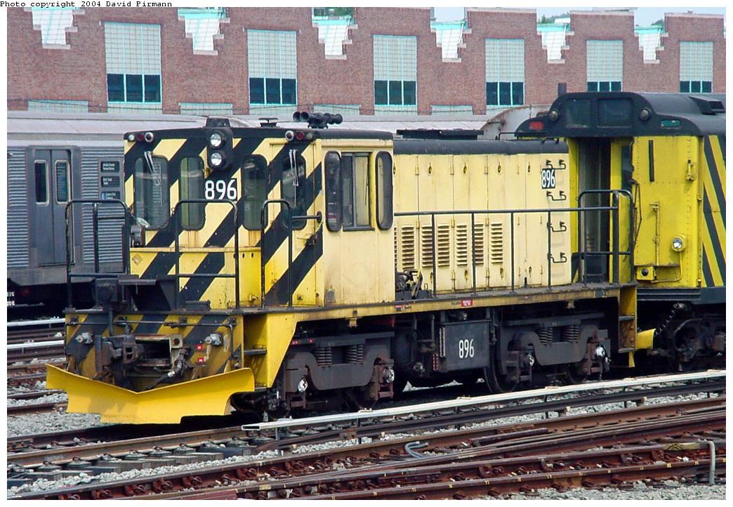 (166k, 1044x722)<br><b>Country:</b> United States<br><b>City:</b> New York<br><b>System:</b> New York City Transit<br><b>Location:</b> Jamaica Yard/Shops<br><b>Car:</b> R-77 Locomotive 896 <br><b>Photo by:</b> David Pirmann<br><b>Date:</b> 8/27/2000<br><b>Viewed (this week/total):</b> 0 / 4345