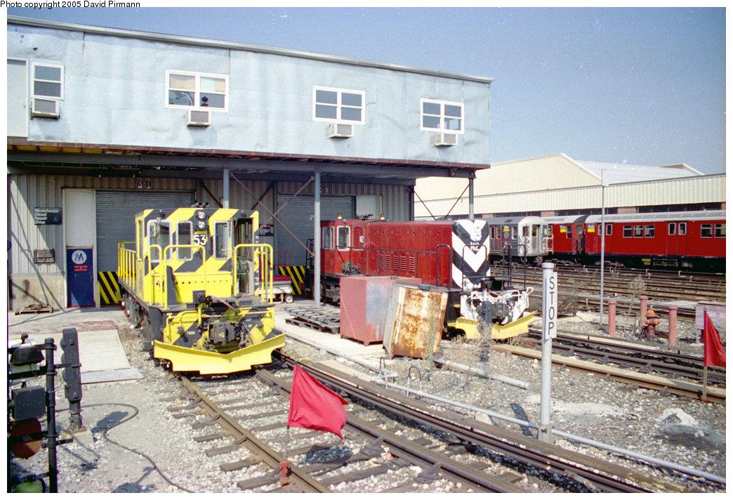 (261k, 1044x712)<br><b>Country:</b> United States<br><b>City:</b> New York<br><b>System:</b> New York City Transit<br><b>Location:</b> Westchester Yard<br><b>Car:</b> R-37 Locomotive 53 <br><b>Photo by:</b> David Pirmann<br><b>Date:</b> 9/13/1998<br><b>Notes:</b> Locos 53 and N2<br><b>Viewed (this week/total):</b> 3 / 4984