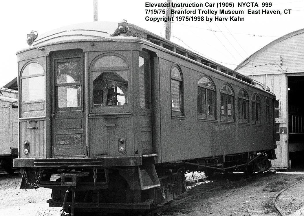 (165k, 1050x748)<br><b>Country:</b> United States<br><b>City:</b> East Haven/Branford, Ct.<br><b>System:</b> Shore Line Trolley Museum<br><b>Car:</b> BMT Instruction Car 999 <br><b>Photo by:</b> Harv Kahn<br><b>Date:</b> 7/19/1975<br><b>Viewed (this week/total):</b> 7 / 6165