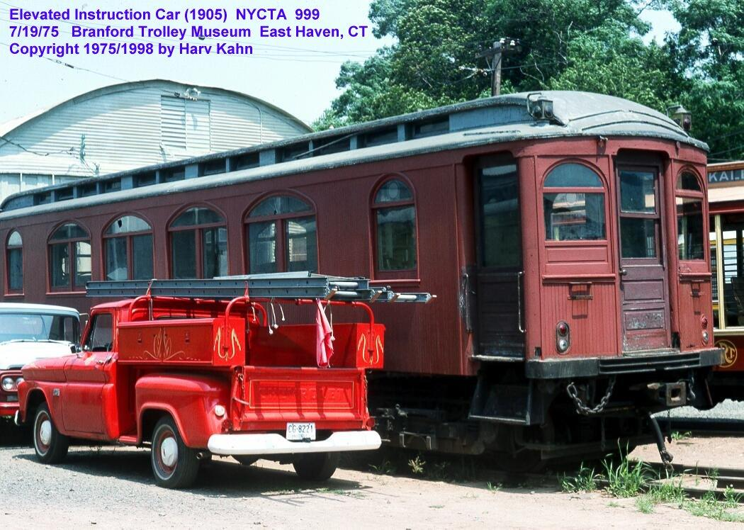 (153k, 1050x748)<br><b>Country:</b> United States<br><b>City:</b> East Haven/Branford, Ct.<br><b>System:</b> Shore Line Trolley Museum<br><b>Car:</b> BMT Instruction Car 999 <br><b>Photo by:</b> Harv Kahn<br><b>Date:</b> 7/19/1975<br><b>Viewed (this week/total):</b> 12 / 6306