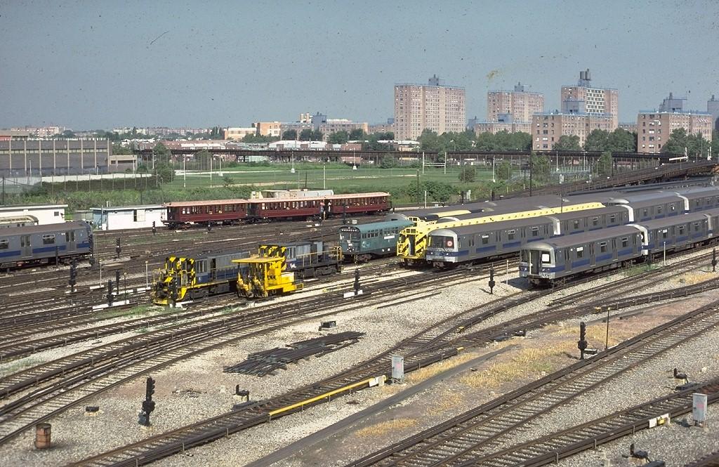 (290k, 1024x665)<br><b>Country:</b> United States<br><b>City:</b> New York<br><b>System:</b> New York City Transit<br><b>Location:</b> Coney Island Yard<br><b>Photo by:</b> Steve Zabel<br><b>Collection of:</b> Joe Testagrose<br><b>Date:</b> 8/31/1979<br><b>Viewed (this week/total):</b> 1 / 3080