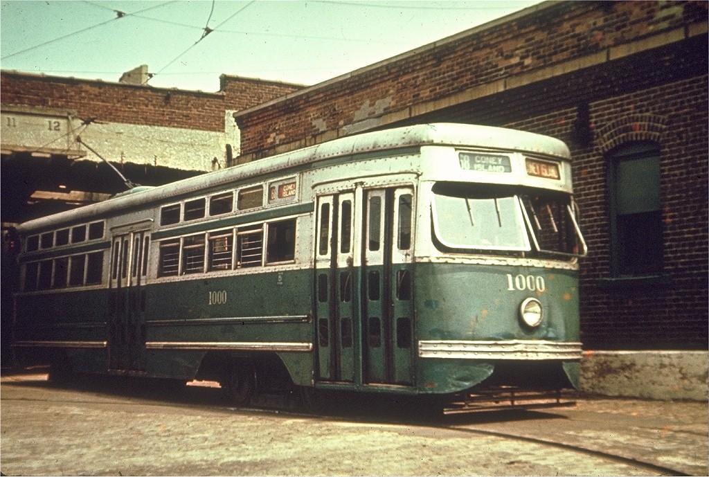 (239k, 1024x689)<br><b>Country:</b> United States<br><b>City:</b> New York<br><b>System:</b> Brooklyn & Queens Transit<br><b>Location:</b> 9th Ave. Carhouse<br><b>Car:</b> Brooklyn & Queens Transit PCC (Clark Equipment, 1936) 1000 <br><b>Collection of:</b> Joe Testagrose<br><b>Viewed (this week/total):</b> 0 / 17206