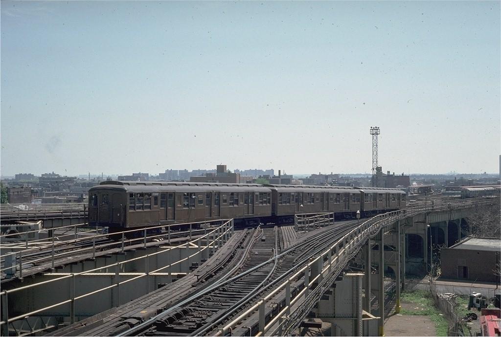 (184k, 1024x689)<br><b>Country:</b> United States<br><b>City:</b> New York<br><b>System:</b> New York City Transit<br><b>Line:</b> BMT Canarsie Line<br><b>Location:</b> Broadway Junction<br><b>Route:</b> Fan Trip<br><b>Car:</b> BMT A/B-Type Standard 2392 <br><b>Photo by:</b> Steve Zabel<br><b>Collection of:</b> Joe Testagrose<br><b>Date:</b> 4/30/1977<br><b>Viewed (this week/total):</b> 0 / 5519