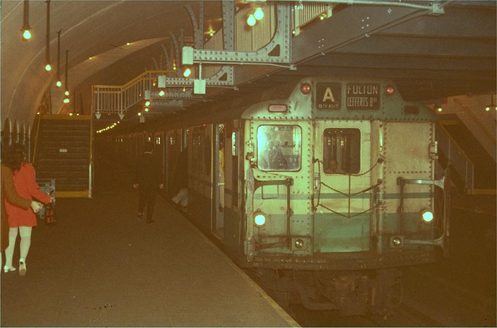 (160k, 1024x677)<br><b>Country:</b> United States<br><b>City:</b> New York<br><b>System:</b> New York City Transit<br><b>Line:</b> IND 8th Avenue Line<br><b>Location:</b> 181st Street<br><b>Route:</b> A<br><b>Car:</b> R-10 (American Car & Foundry, 1948)  <br><b>Photo by:</b> Steve Zabel<br><b>Collection of:</b> Joe Testagrose<br><b>Viewed (this week/total):</b> 4 / 5129