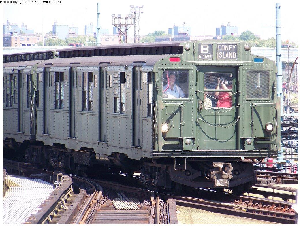 (235k, 1044x788)<br><b>Country:</b> United States<br><b>City:</b> New York<br><b>System:</b> New York City Transit<br><b>Location:</b> Coney Island/Stillwell Avenue<br><b>Route:</b> Fan Trip<br><b>Car:</b> R-9 (Pressed Steel, 1940) 1802 <br><b>Photo by:</b> Philip D'Allesandro<br><b>Date:</b> 8/12/2007<br><b>Viewed (this week/total):</b> 3 / 2565